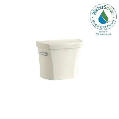 Wellworth 1.28 GPF Single Flush Toilet Tank Only with Insuliner Tank Liner in Biscuit