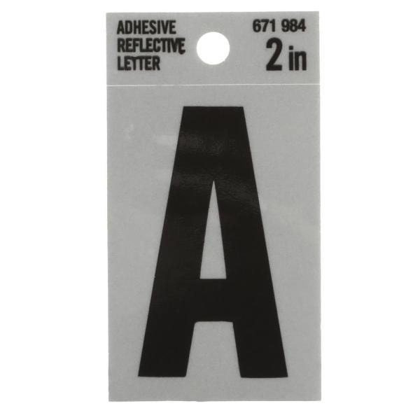 2 in. Vinyl Reflective Letter A