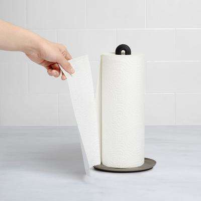 Black/ Nickel Keyhole Paper Towel Holder