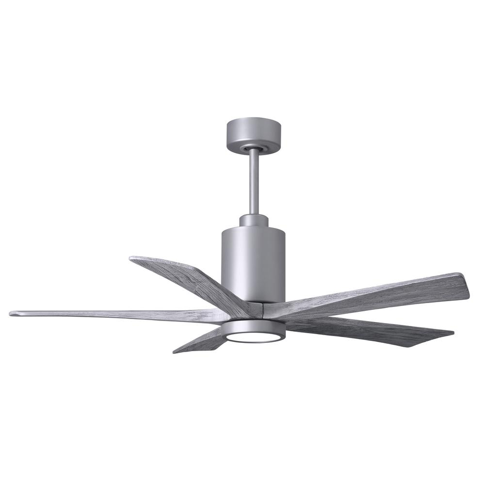 Atlas Patricia 52 in. LED Indoor/Outdoor Damp Brushed Nickel Ceiling Fan with Light with Remote Control and Wall Control