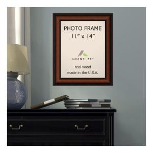 Bella Noce 11 inch x 14 inch Brown Walnut Picture Frame by
