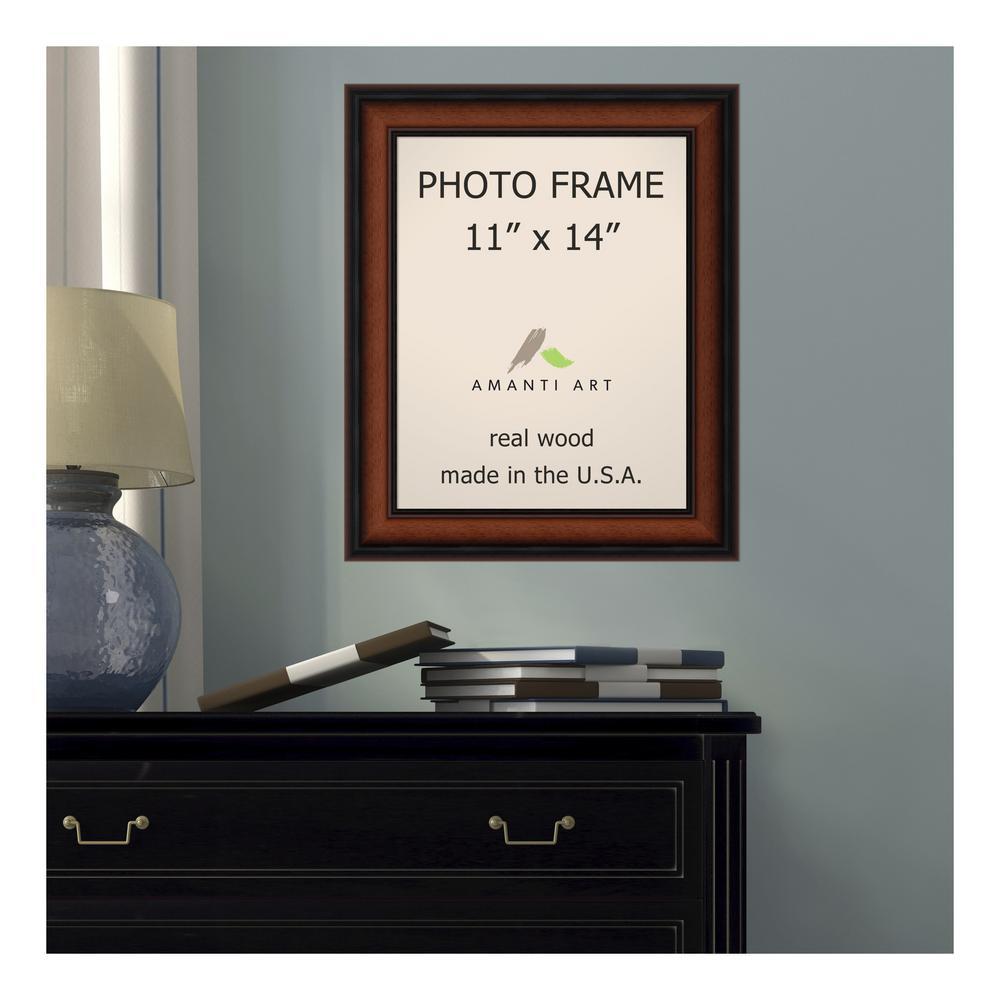Amanti Art Bella Noce 11 In X 14 In Brown Walnut Picture Frame