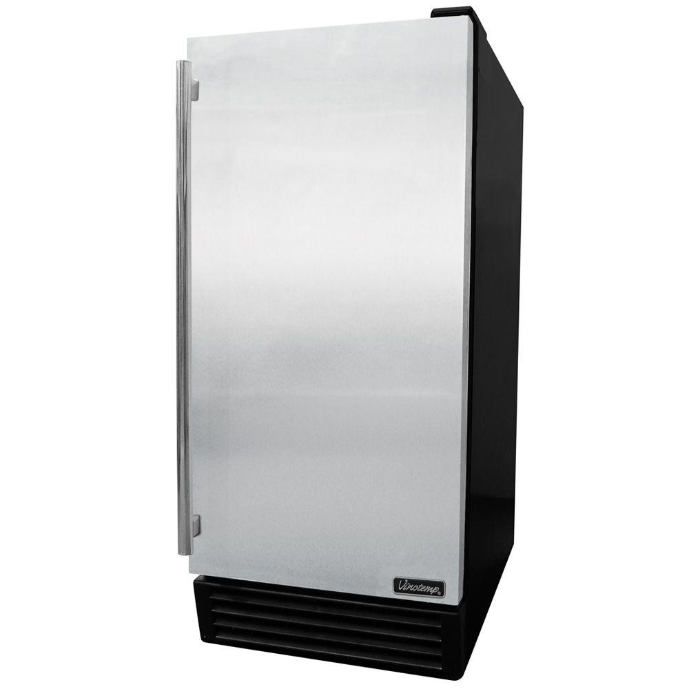 Vinotemp 44 lbs. Automatic Undercounter Ice Maker in Stainless Steel