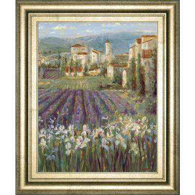 """22 in. x 26 in. """"Provencal Village"""" by Longo Framed Printed Wall Art"""