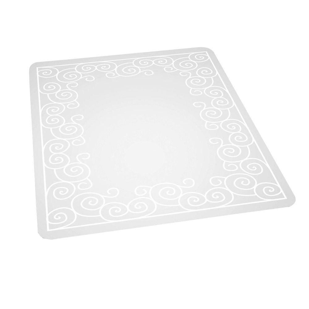 ES Robbins Design Swirl Print 36 in. x 48 in. Carpet Vinyl Chair Mat