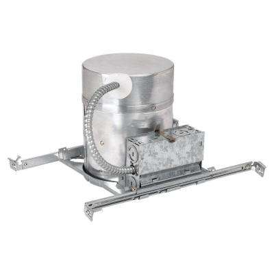 New Construction IC Fire Barrier 6 in. Metallic Recessed Housing Kit with Quick Connects