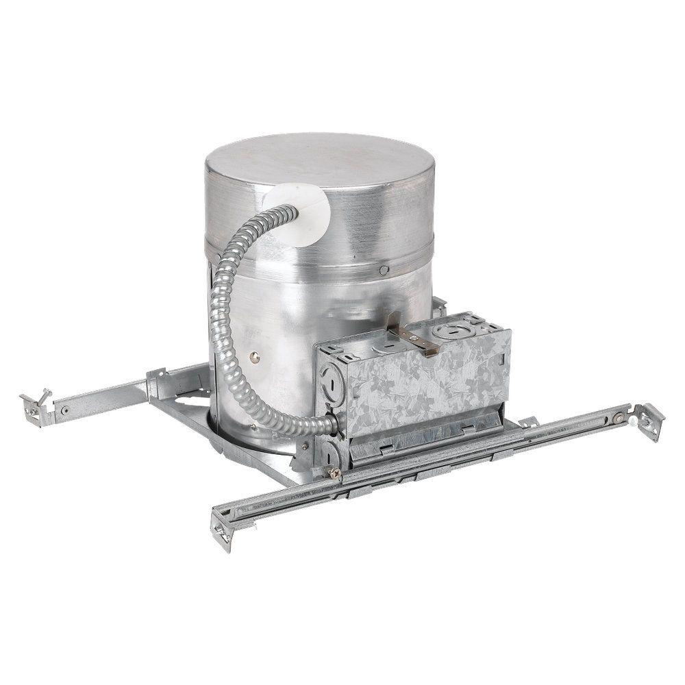 null New Construction IC Fire Barrier 6 in. Metallic Recessed Housing Kit with Quick Connects