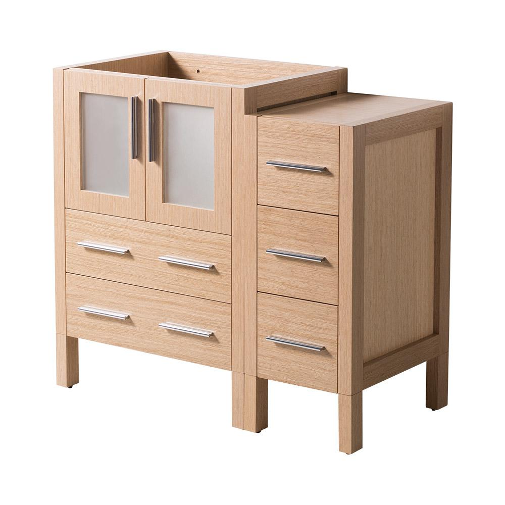 36 in. Torino Modern Bathroom Vanity Cabinet in Light Oak