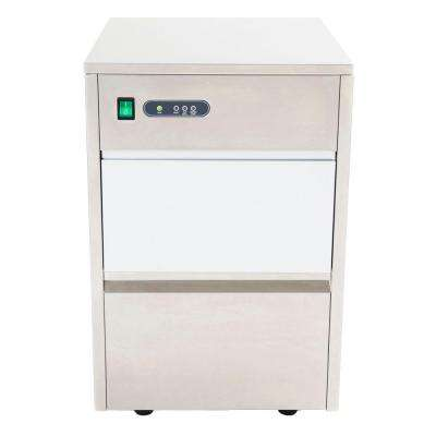 44 lb. Freestanding Ice Maker in Stainless Steel