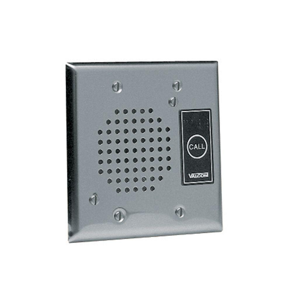 Valcom ip talkback door phone intercom with durable flush for Door intercom