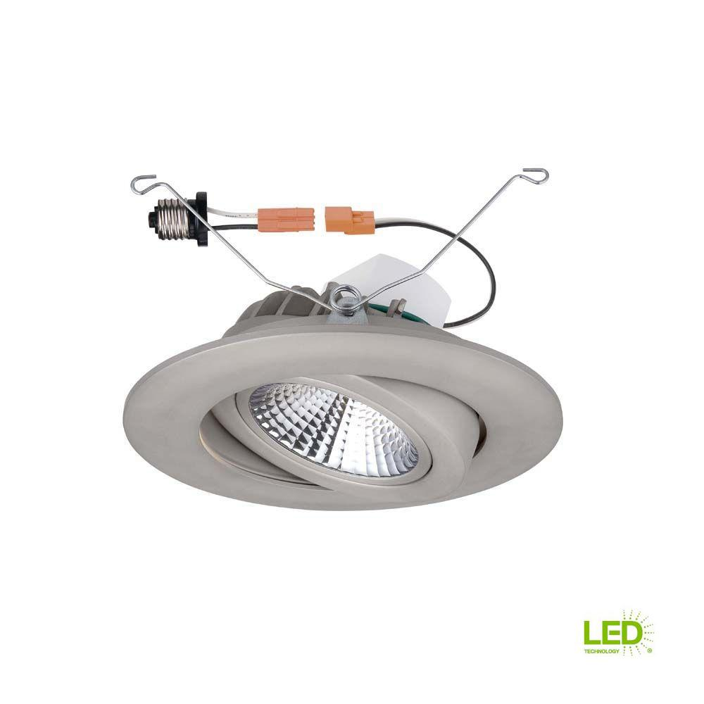 Details About Recessed Lighting Trim 6 In Integrated Led Air Dimmable Retrofit Nickel