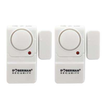 Mini Entry Defender Wireless Door and Window Alarm with Chime in White (2-Pack)