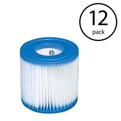 Swimming Pool Easy Set Filter Cartridge Replacement Type H (12-Pack)