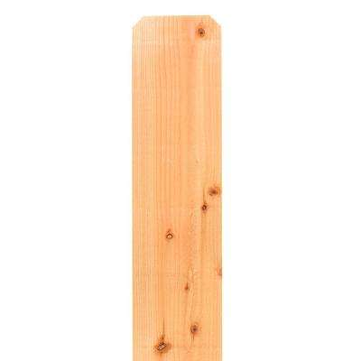 1 in x 8 in x 6 ft Dog Ear El Dorado Cedar Fence Picket - 6 Pack