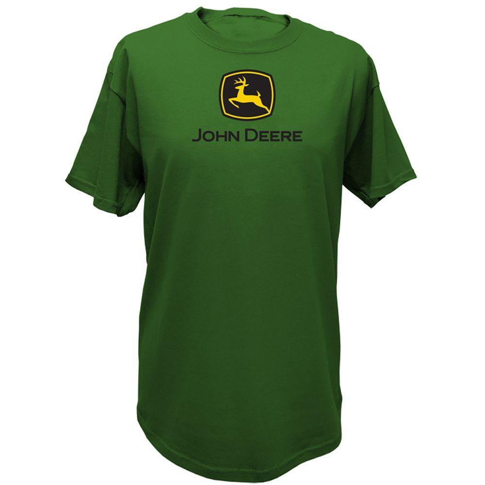 John Deere Basic Large Adult Men's Crew Neck Tee Shirt in Green