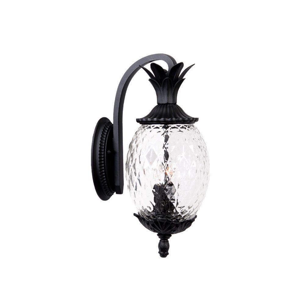 Lanai Collection 2-Light Matte Black Outdoor Wall-Mount Light Fixture