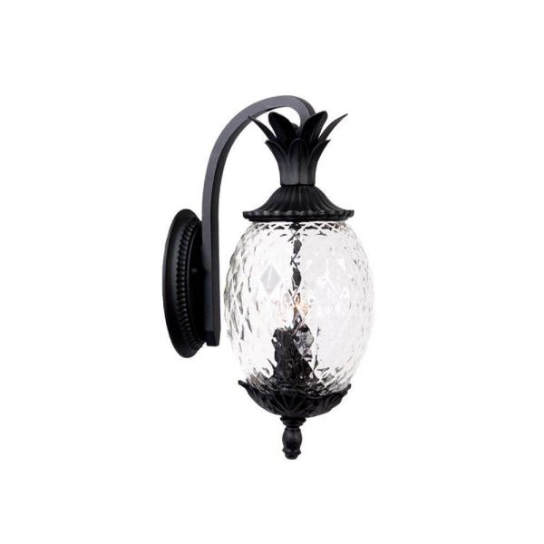 Lanai Collection 2-Light Matte Black Outdoor Wall Lantern Sconce