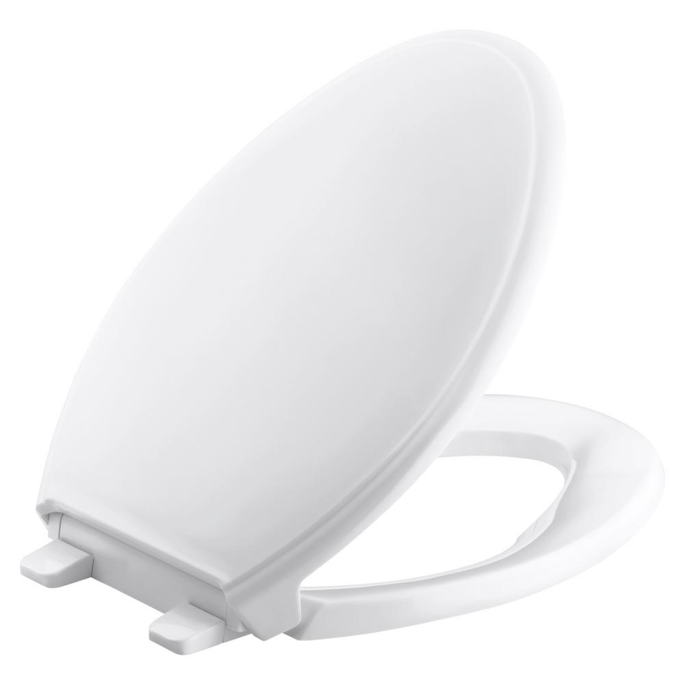Grip-Tight Glenbury Q3 Elongated Closed Front Toilet Seat in White