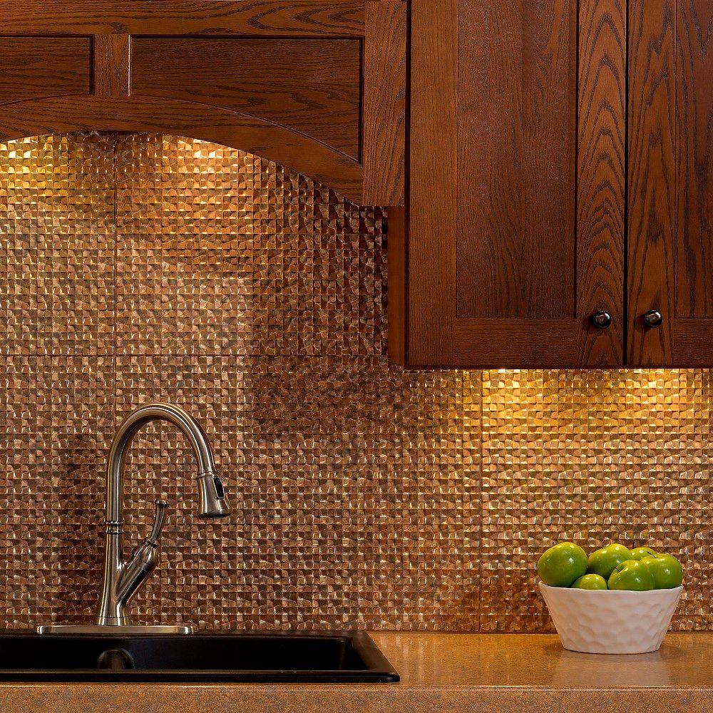 Fasade 24 in. x 18 in. Terrain PVC Decorative Tile Backsplash in ...