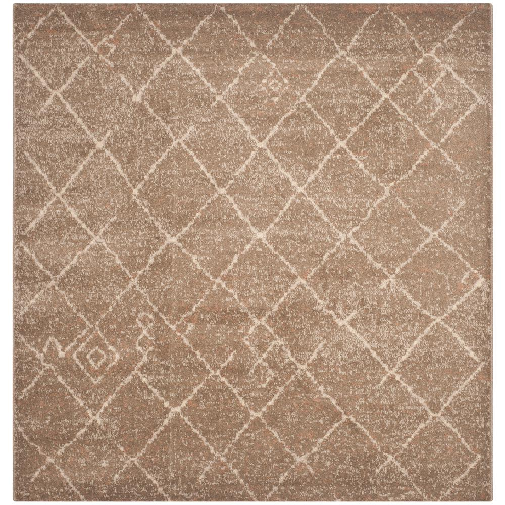 Safavieh Tunisia Brown 6 ft. x 6 ft. Square Area Rug