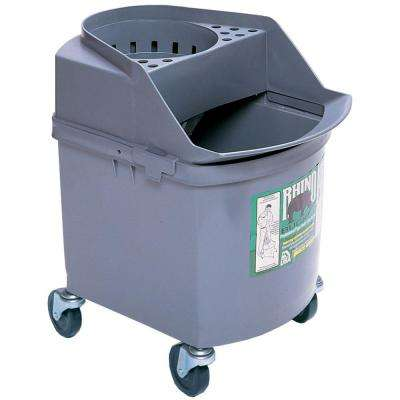 26 Qt. Industrial Strength Rhino Mop Twister Bucket with 3 in. Casters