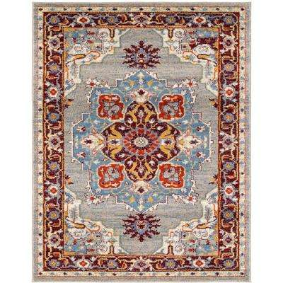 Scentasia Beige-Ivory Bordered 5 ft. 1 in. x 7 ft. 6 in. Area Rug