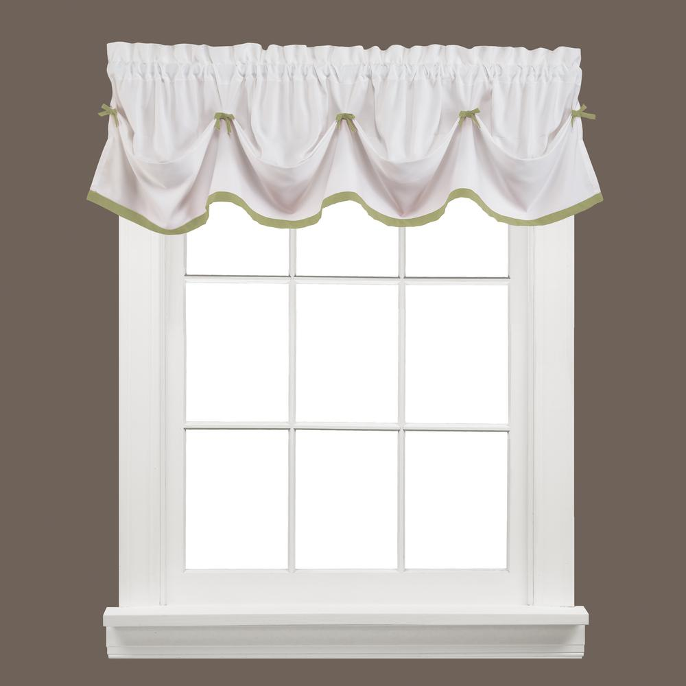 Saturday Knight Kate 13 in. L Polyester Valance in Sage
