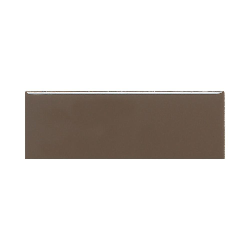 Daltile Modern Dimensions Matte Artisan Brown 4-1/4 in. x 12 in. Ceramic Wall Tile (10.64 sq. ft. / case)-DISCONTINUED