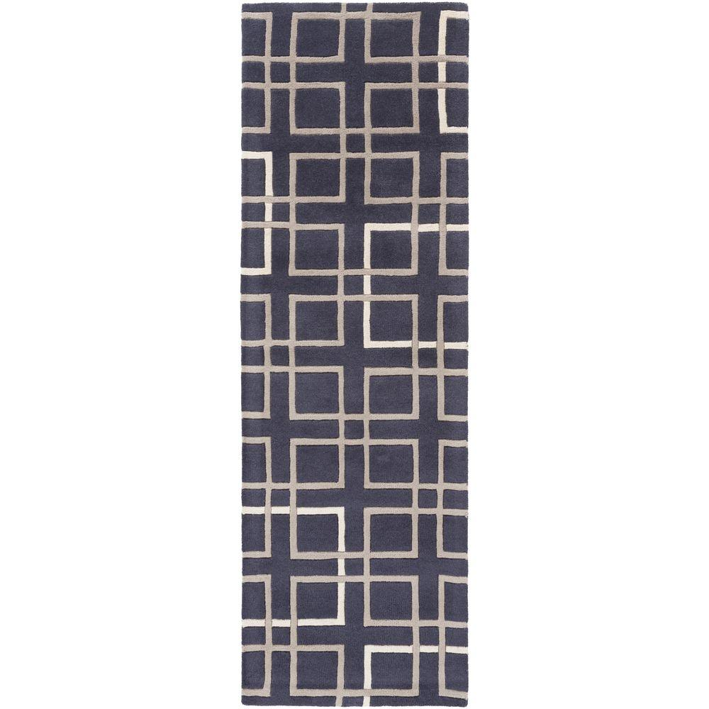 Castletown Navy 2 ft. 6 in. x 8 ft. Indoor Rug