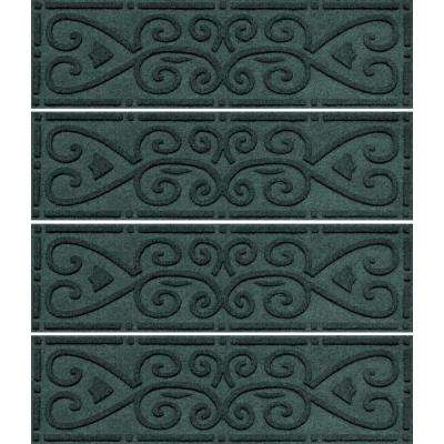Evergreen 8.5 in. x 30 in. Scroll Stair Tread Cover (Set for 4)