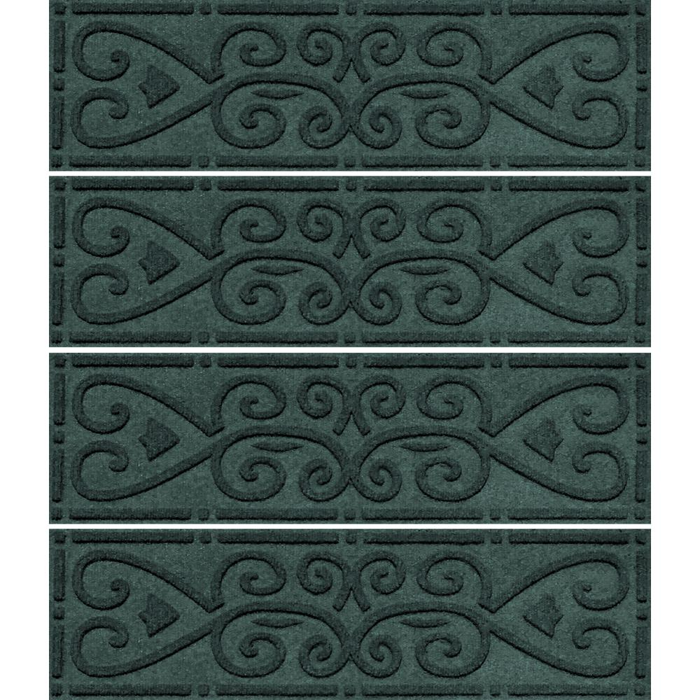 Superieur Aqua Shield Evergreen 8.5 In. X 30 In. Scroll Stair Tread Cover (Set