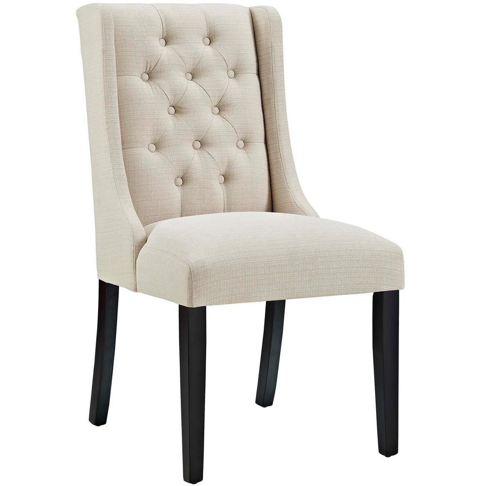 Modway baronet beige fabric dining chair