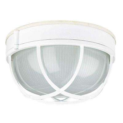 Hurd 1-Light White Outdoor Flush Mount