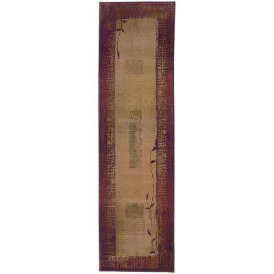 Mantra Red 2 ft. x 8 ft. Runner Rug