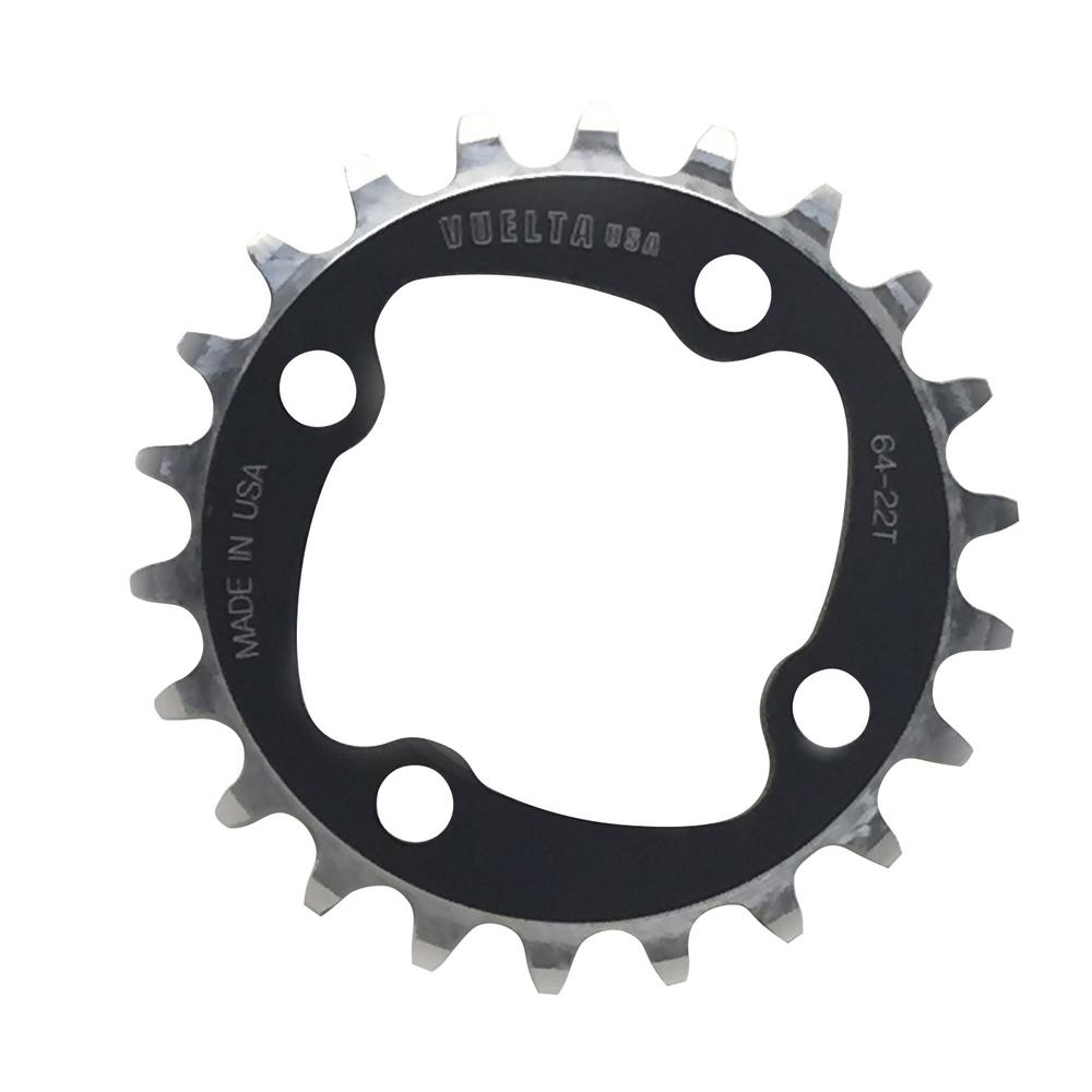 SE Flat 64 mm/BCD 24T Chainring in Black