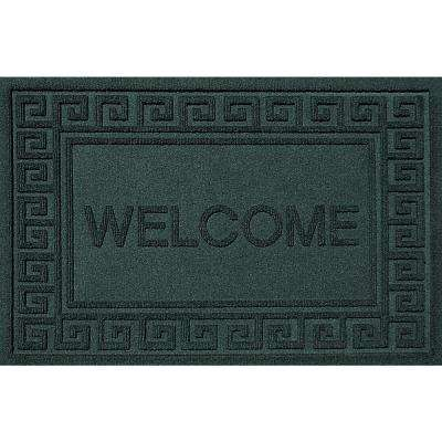 Greek Welcome Evergreen 24x36 Polypropylene Door Mat