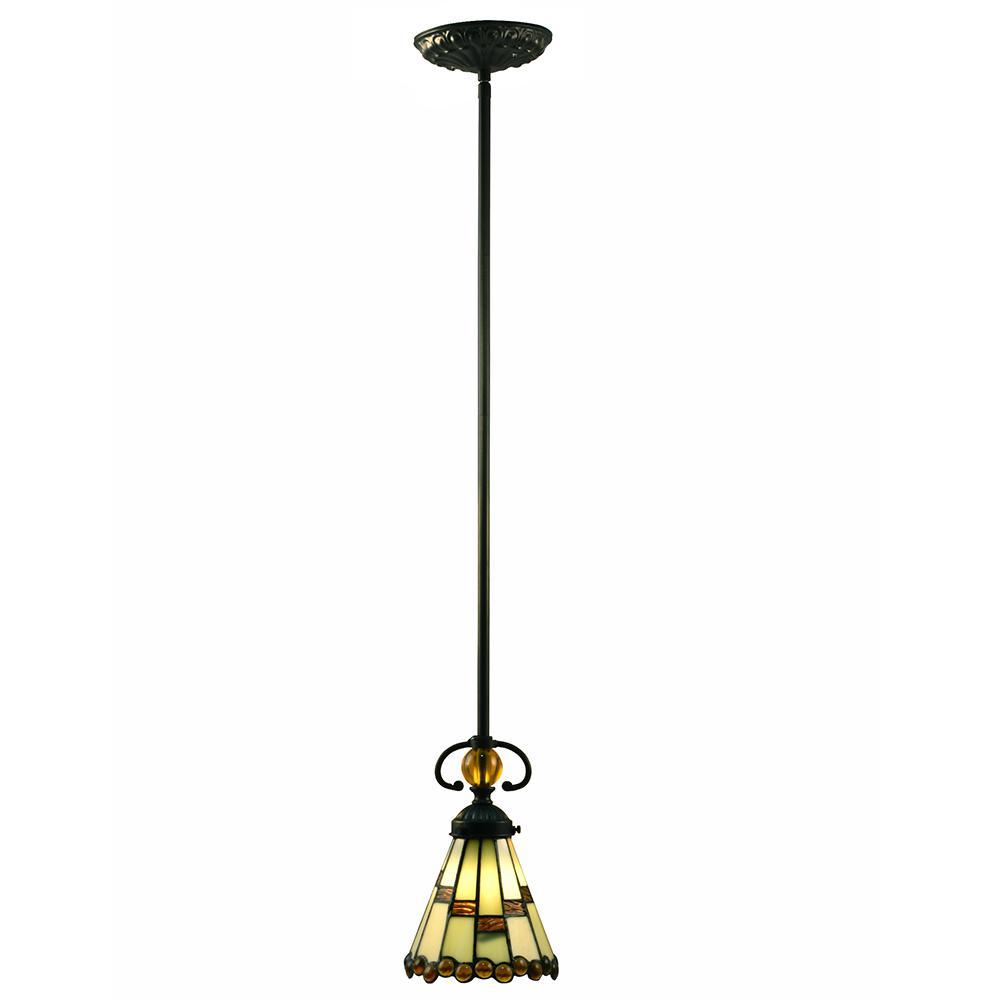 Springdale Lighting Jerome 60-Watt Tiffany Bronze Integrated LED Mini Pendant