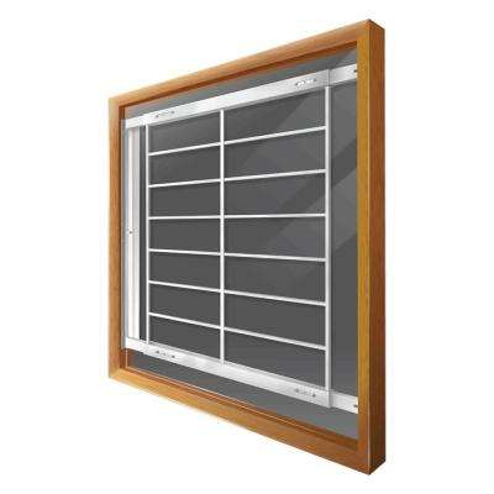 Swing-away 62 in. to 74 in. Adjustable Width 8-Bar Window Guard, White