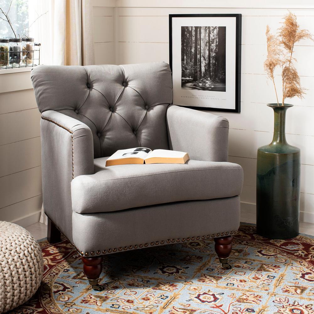 Colin Sea Mist Linen Arm Chair