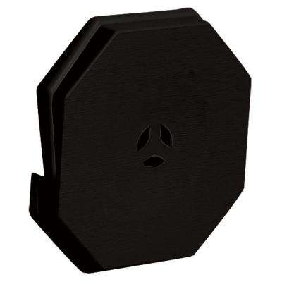 6.625 in. x 6.625 in. #002 Black Surface Mounting Block