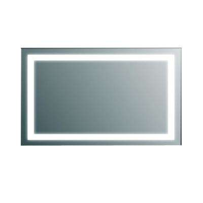 Lite 48 in. W x 30 in. H LED Wall Mounted Vanity Bathroom LED Mirror in Aluminum