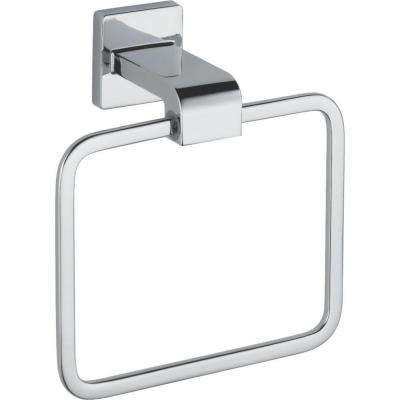 Ara Towel Ring in Chrome
