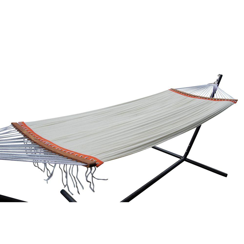 null Roch Polyester Patio Hammock Bed Set with Steel Simple Stand-DISCONTINUED