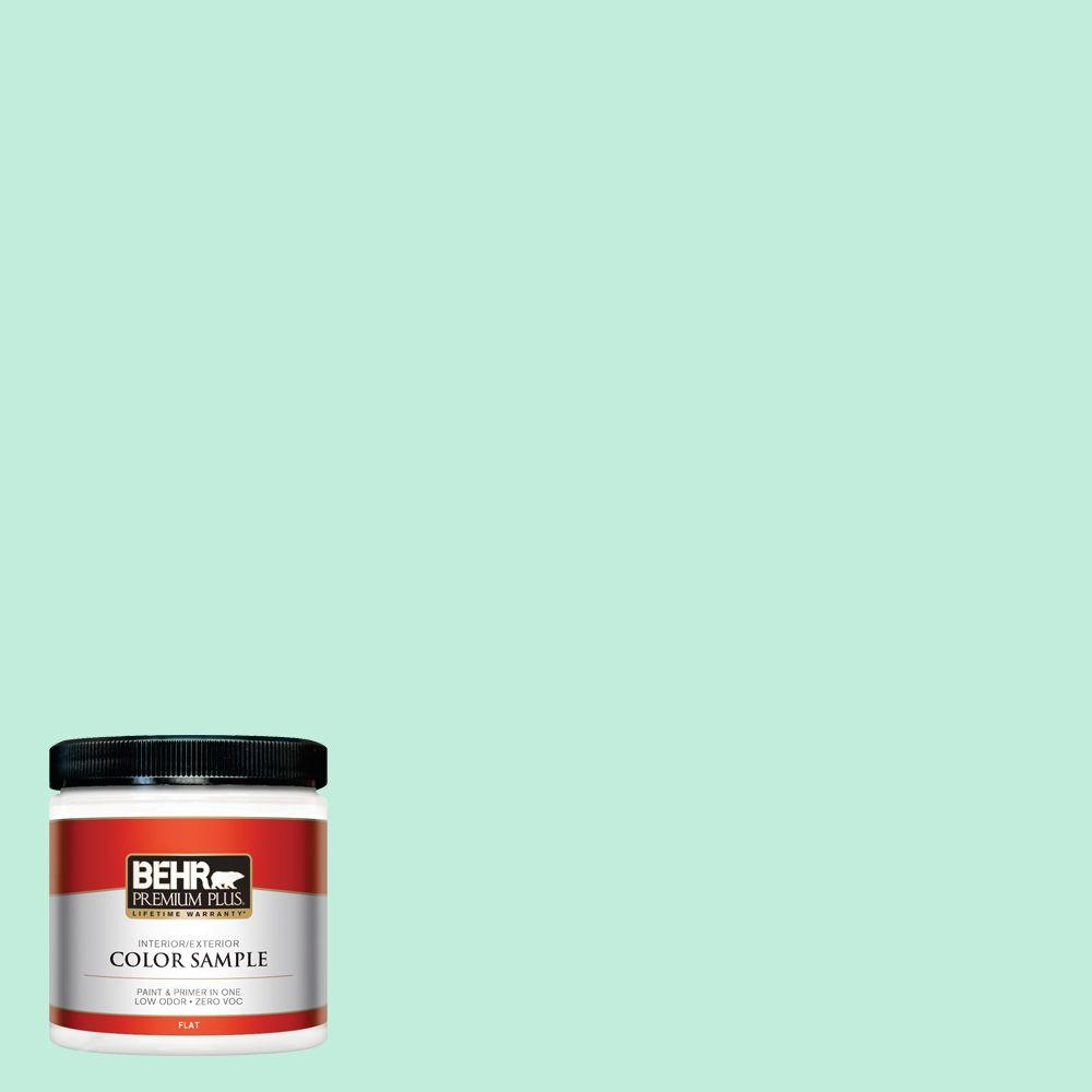 470a 2 Seafoam Pearl Flat Interior Exterior Paint And Primer In One Sample