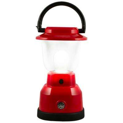 Plus Series Battery Operated LED Red Remote Phosphor Lantern