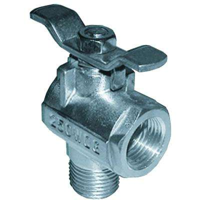 90-Degree Stainless Steel Fuel Valve