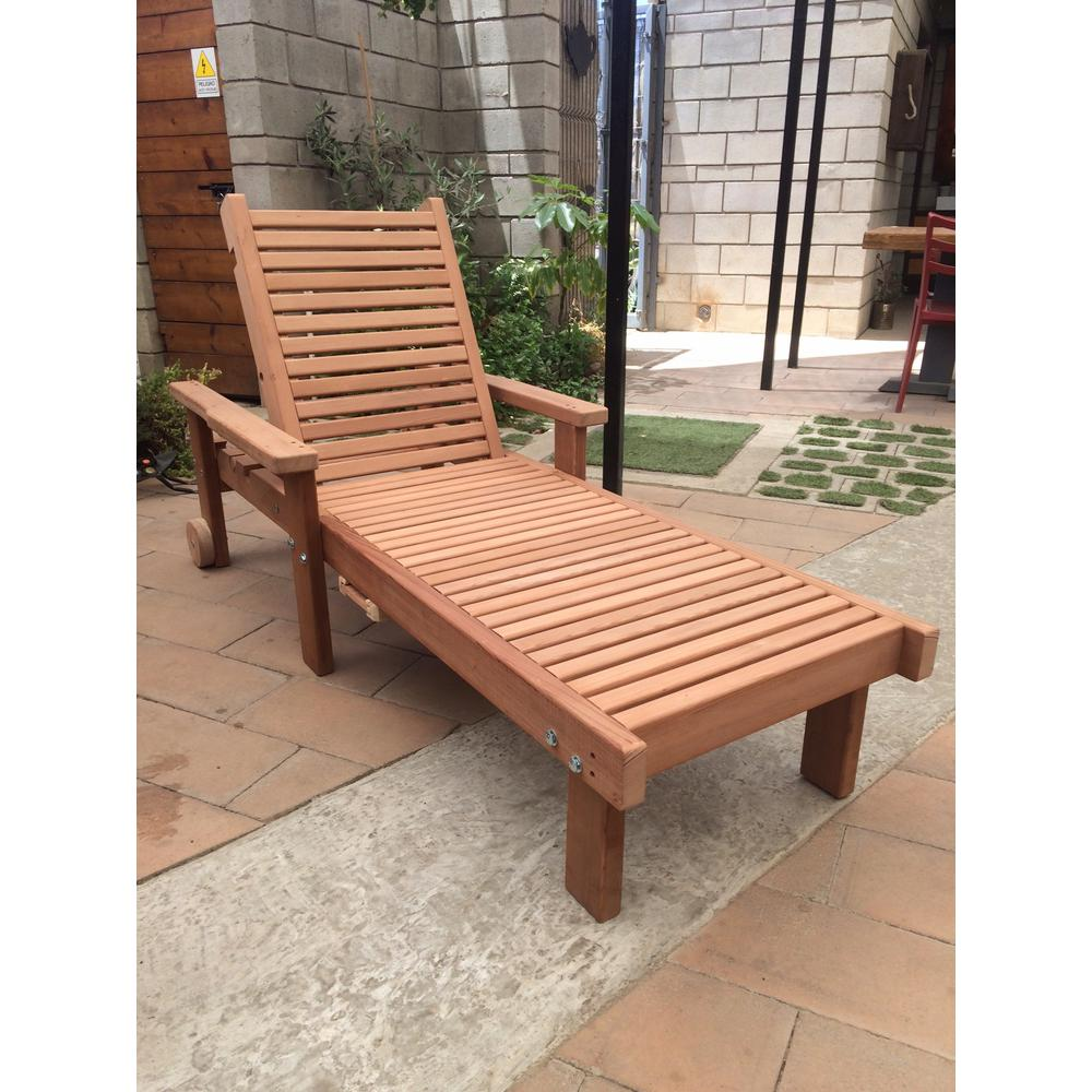 - Sun Clear Redwood Outdoor Chaise Lounge-CLSNSB-AWSNS - The Home Depot
