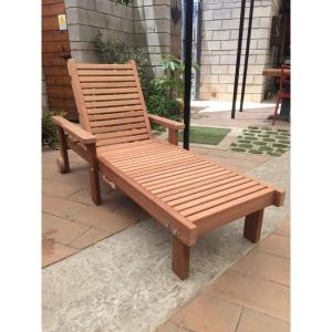 Wide Sun Mission Brown Finish Redwood Outdoor Chaise Lounge Clsmwb