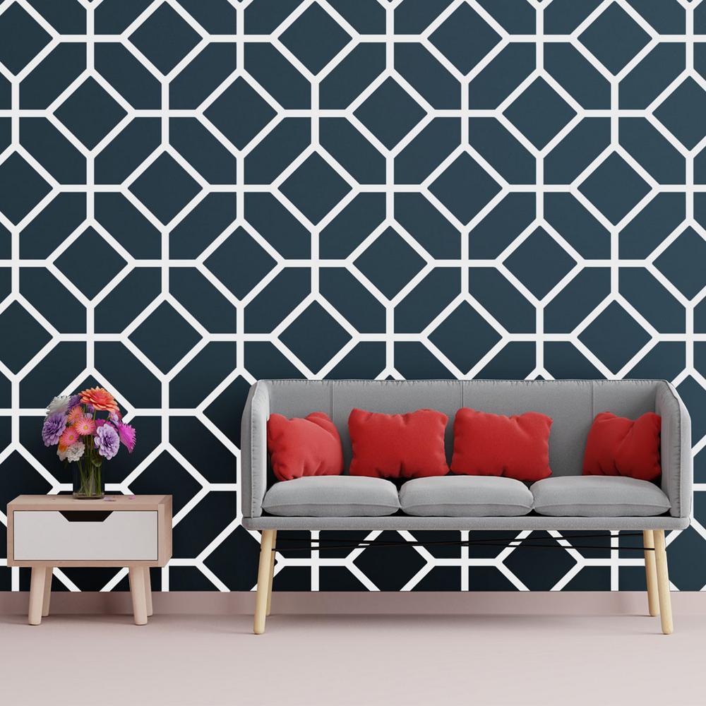 3/8 in. x 26-1/4 in. x 15-3/4 in. Medium Cameron White Architectural Grade PVC Decorative Wall Panels
