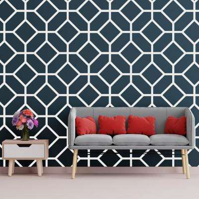 3/8 in. x 26-1/4 in. x 15-3/4 in. Medium Cameron White Architectural Grade PVC Decorative Wall Panels